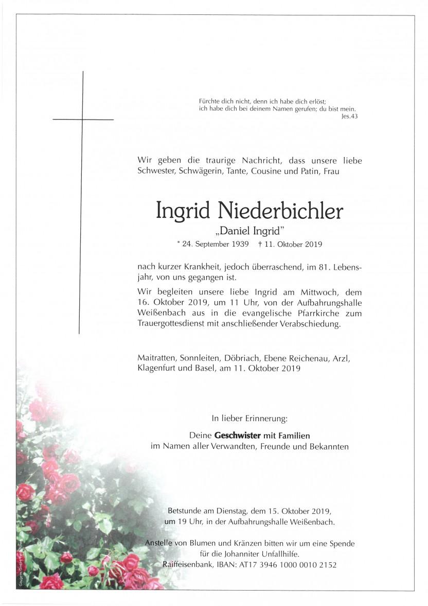 Ingrid Niederbichler, 11.10.2019
