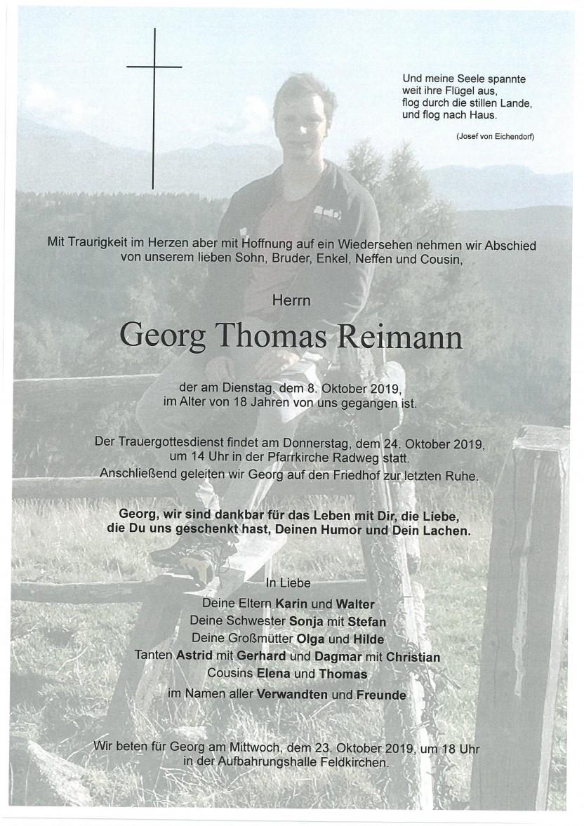 Georg Thomas Reimann, 8.10.2019