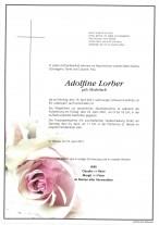 Adolfine Lorber, gestorben am 19.04.2021