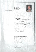 Wolfgang Aigner, Maurer, gestorben am 09.12.2019