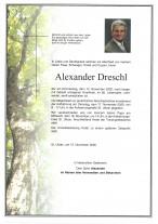 Alexander Dreschl,gestorben am12.11.2020
