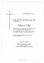 Alfred Uhr, gestorben am 10.08.2020