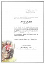 Alois Gruber, gestorben am 22.12.2020