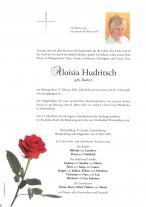Aloisia Hudritsch, gestorben am 15.02.2021