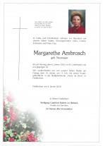 Margarethe Ambrosch, geb. Neumayer, gestorben am 06.01.2020