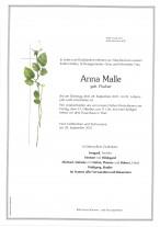 Anna Malle, gestorben am 28.09.2021