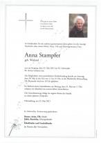 Anna Stampfer, gestorben am 23.05.2021