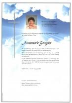 Annemarie Gaugeler, gestorben am 23.08.2021