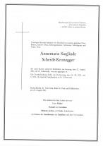 Annemarie Sieglinde Scherde-Kronegger, gestorben am 22.08.2021