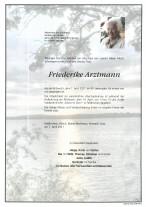 Friederike Arztmann, gestorben am 07.04.2021