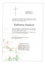 Katharina Assaloni, gestorben am 14.09.2020