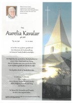 Aurelia Kavalar, gestorben am 11.12.2020