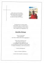 Aurelia Ortner, gestorben am 06.01.2021
