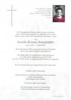 Aurelia Romana Brandstätter, gestorben am 02.01.2021