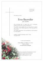 Erna Baumüller, gestorben am 16.08.2020