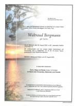 Waltraud Bergmann, gestorben am 26.08.2020