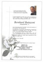 Bernhard Buttazoni, gestorben am 27.05.2021