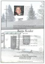 Berta Koder, gestorben am 20.07.2021