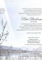 Rita Biedermann, gestorben am 22.10.2020