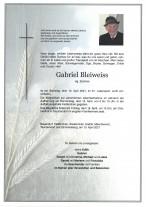 Gabriel Bleiweiss, gestorben am 10.04.2021