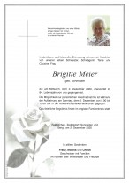 Brigitte Meier, gestorben am 02.12.2020