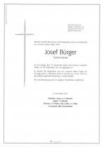 Josef Bürger gestorben am 27.11.2020