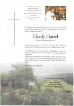 Charly Hatzel, gestorben am 22.07.2021