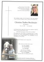 Christina Nadine Brachmaier, gestorben am 22.08.2021