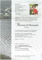 Theresia Di Bernardo, gestorben am 15.04.2021