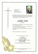 Sybilla Dokl, geb. Maier, gestorben am 04.02.2020