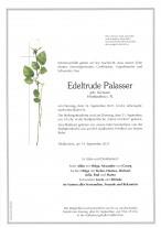 Edeltrude Palasser, gestorben am 14.09.2021