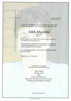 Edith Mansfeld, gestorben am 29.01.2021