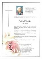 Edith Mörtlitz gestorben am 05.12.2020