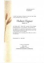 Hubert Eigner, gestorben am 01.03.2021
