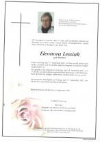 Eleonora Lessiak, gestorben am 11.09.2021