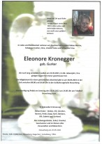 Eleonore Kronegger, gestorben am 22.05.2021