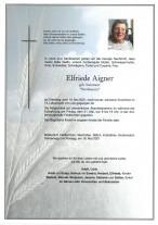 Elfriede Aigner, gestorben am 18.05.2021