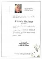 Elfriede Haslauer, gestorben am 21.07.2021