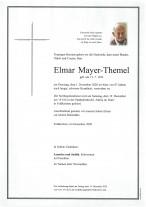 Elmar Mayer-Themel, gestorben am 01.12.2020