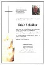 Erich Scheiber, gestorben 25.12.2020