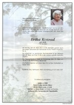 Erika Konrad, gestorben am 20.02.2021