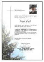 Ernst Zarfl, gestorben am 09.02.2021