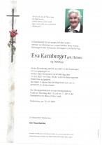 Eva Karnberger, gestorben am 08.07.2021