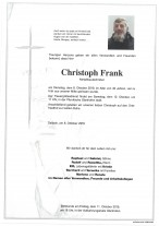 Christoph Frank, 8.10.2019