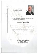 Franz Santner, gestorben am 30.12.2020