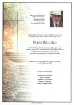 Franz Schurian, gestorben am 24.12.2020