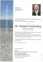 Norbert Freithofnig, gestorben am 20.11.2020