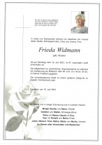 Frieda Widmann, gestorben am 19.06.2021