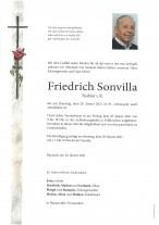 Friedrich Sonvilla, gestorben am 26.01.2021