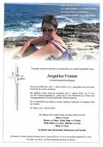 Angelika Frieser, Sonderkindergartenpäd. gestorben am 01.01.2020